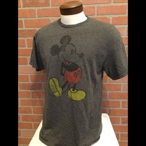 Disney Mickey Mouse gray t shirt graphic tee (S53)